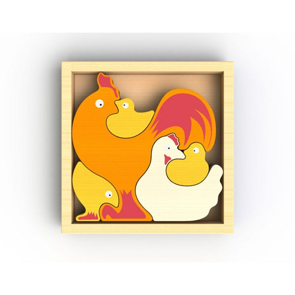 Beginagain Toys - Chicken Family Puzzle
