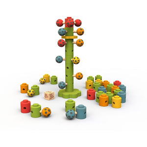 Beginagain Toys - Ladybug Flower Tower Game