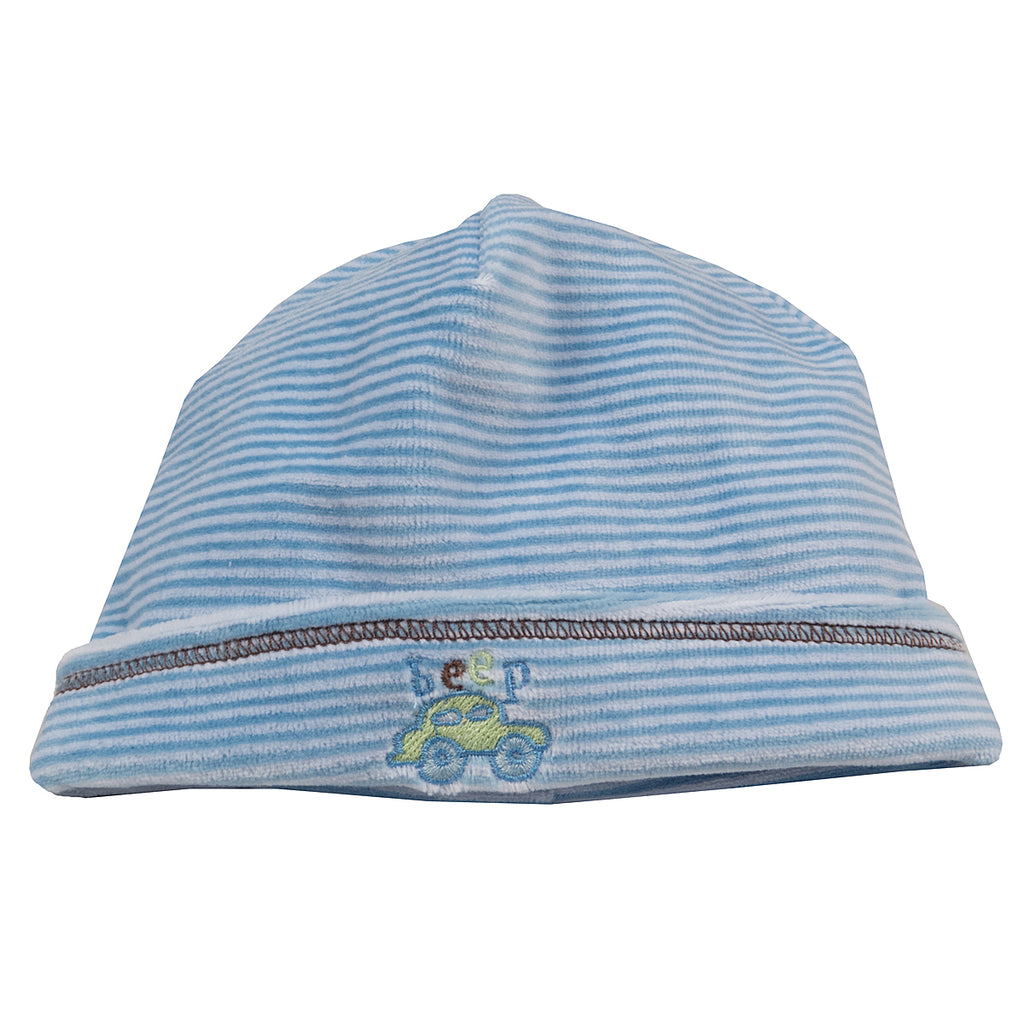 Kissy Kissy - City Tour  Velour Stripe Hat - Blue