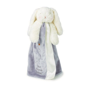 Bunnies By The Bay - Bloom Bunny Buddy Blanket - Glacier Gray