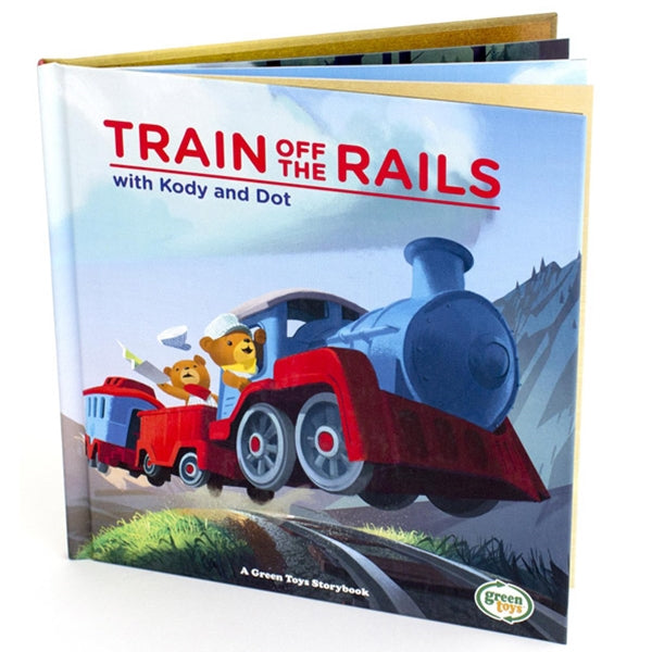 Green Toys - Train off the Rails Book
