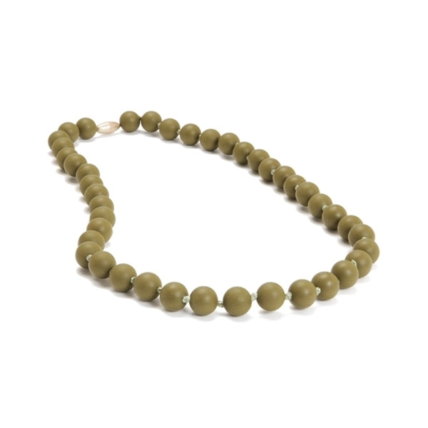 Chewbeads - Jane Teething Necklace - Military Olive
