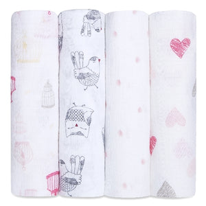 Aden and Anais - lovebird 4-pack classic swaddles