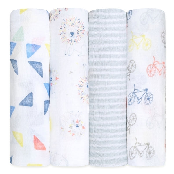 Aden and Anais - leader of the pack 4-pack classic swaddles