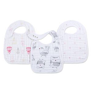 Aden and Anais - lovebird 3-pack classic snap bibs