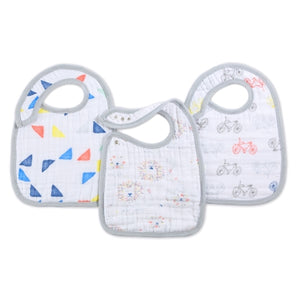 Aden and Anais - leader of the pack 3-pack classic snap bibs