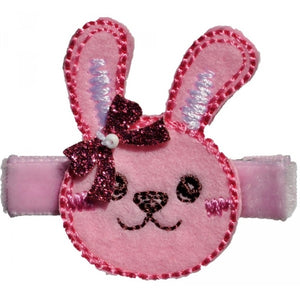 No Slippy Hair Clippy - Winnie Pink Bunny Favorite Animal Faces Pinch Clip