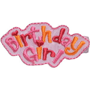 No Slippy Hair Clippy - Lacy Pinch Clip - Birthday Girl