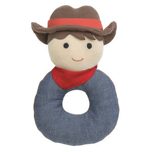 Apple Park - Farm Buddies Teething Rattle - Barnyard Billy
