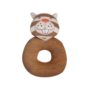 Apple Park - Farm Buddies Teething Rattle - Buster Beaver