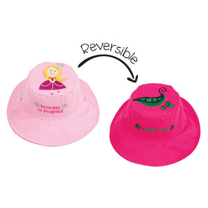 FlapJackKids - Reversible Sun Hat - Princess/Sweet Pea