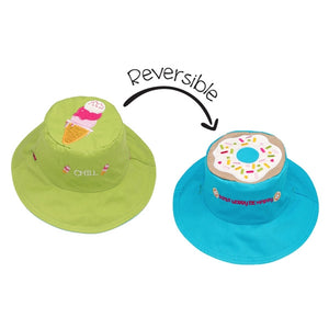 FlapJackKids - Reversible Sun Hat - Ice Cream/Donut