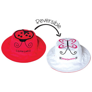 FlapJackKids - Reversible Sun Hat - Lady Bug/Butterfly