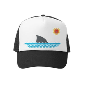 Grom Squad - Sharky Trucker Hat - Blk/Wht