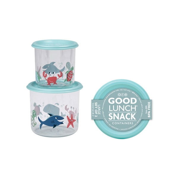 Ore - Good Lunch Snack Containers Large Set-of-Two - Ocean