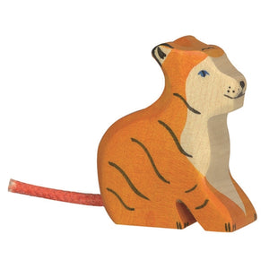 Holztiger - Tiger - Small - Seated