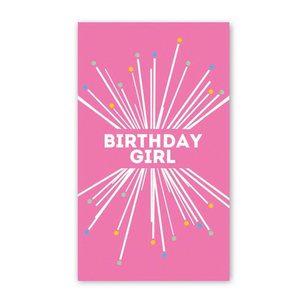 Rock Scissor Paper - Birthday Girl Starburst - Mini Cards