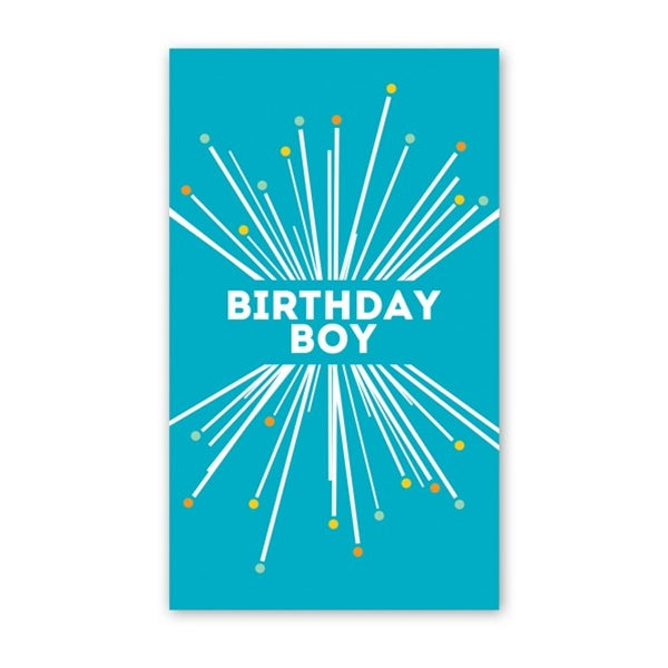 Rock Scissor Paper - Birthday Boy Starbust - Mini Cards
