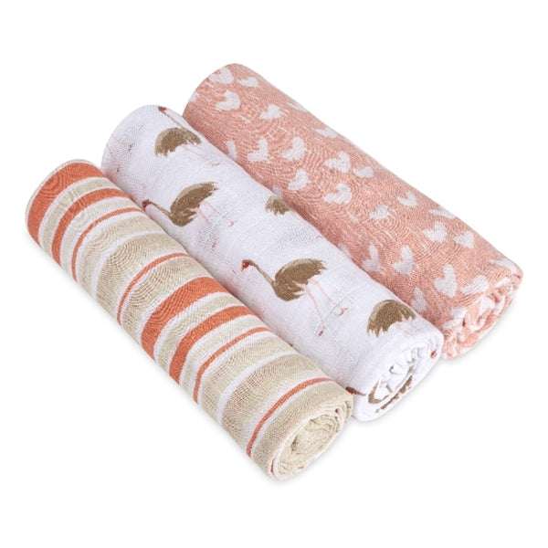 Aden and Anais - Flock Together 3-Pack - Classic Swaddles