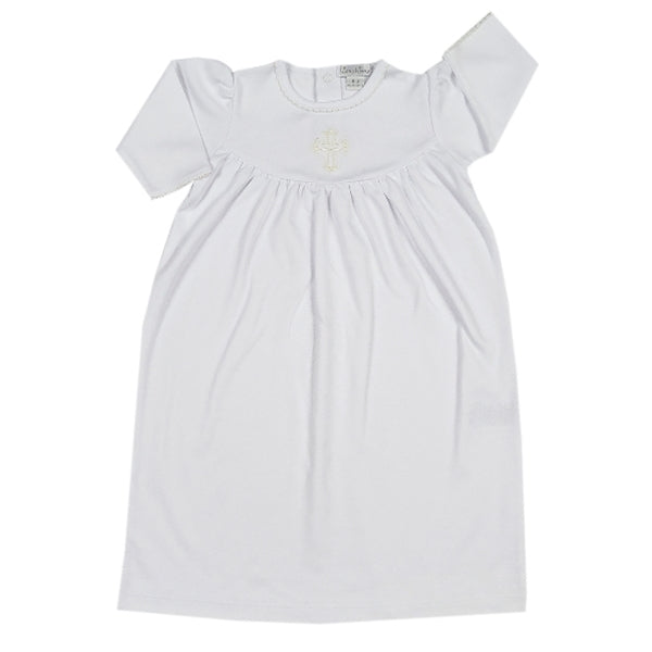 Kissy Kissy - Baby Blessings  Girl Day Gown - White / Ecru