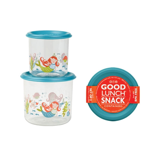 Ore - Good Lunch Snack Containers Small Set-of-Two - Mermaid