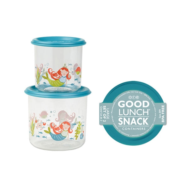 Ore - Good Lunch Snack Containers Large Set-of-Two - Mermaid