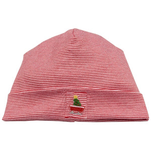 Kissy Kissy - Babys First Christmas Stripe Hat - Red