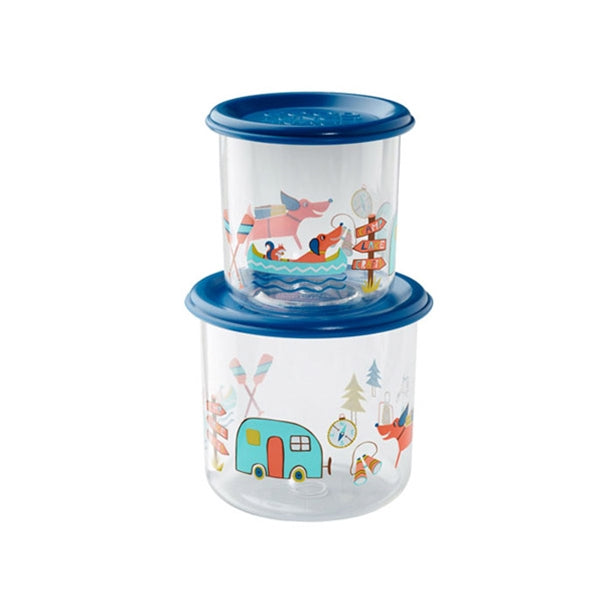 Ore - Snack Containers Large Set-of-Two - Happy Camper