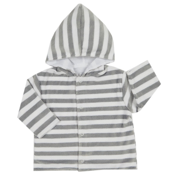 Kissy Kissy - Mini Pets  Velour Stripe Jacket W/Hood - Silver