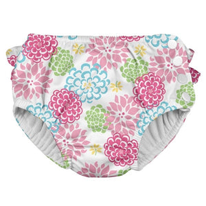 I Play - Swimsuit Diaper - White Zinnia
