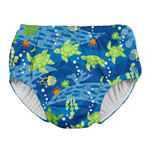 I Play - Swimsuit Diaper - Royal Blue Turtle Journey