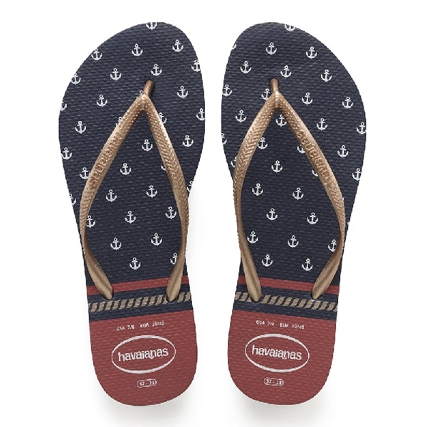 Havaianas - Slim Nautical Sandal Navy Blue Red