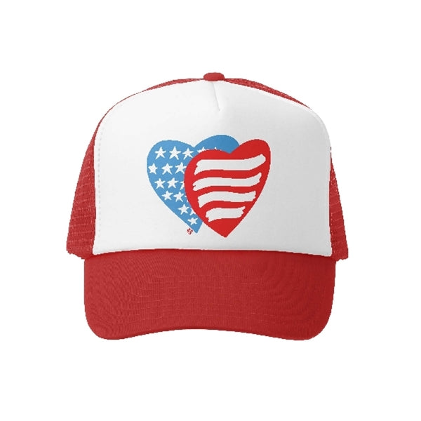 Grom Squad - Patriotic Hearts - Red/Wht