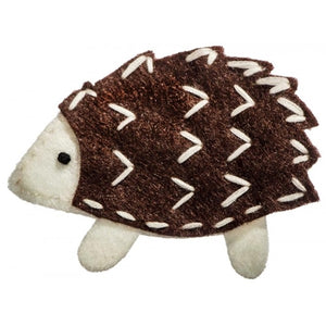 No Slippy Hair Clippy - Nellie Handmade Felt Hedgehog Pinch Clip