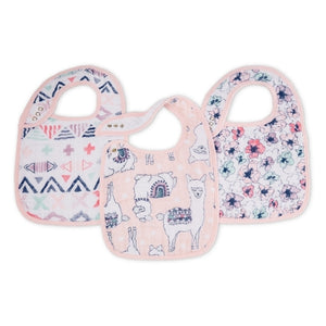 Aden and Anais - Classic Snap Bibs 3-pack - Trail Blooms
