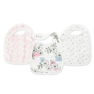Aden and Anais - Silky Soft Snap Bibs 3-pack - Meadowlark