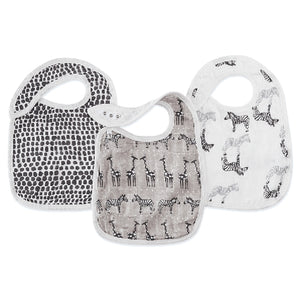 Aden and Anais - Silky Soft Snap Bibs 3-pack - Sahara Motif