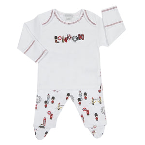 Kissy Kissy - Tour Of London  Footed Pant Set