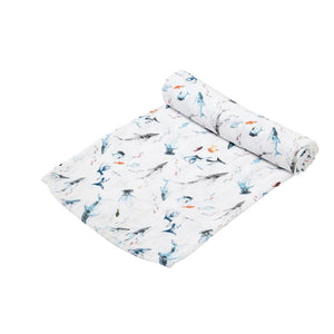 Angel Dear - Bamboo Swaddle Blanket - Sharks