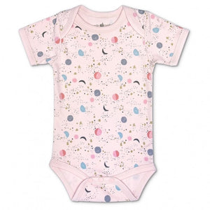 Apple Park - Organic Cotton Onsie - Moon Star Pink