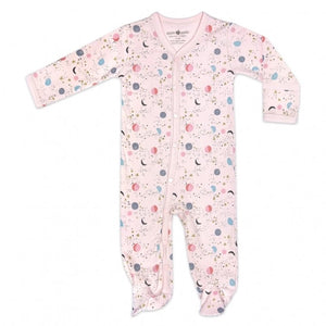 Apple Park - Organic Cotton Footie - Moon Star Pink