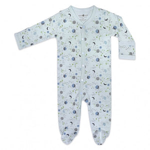 Apple Park - Organic Cotton Footie - Moon Star Mint