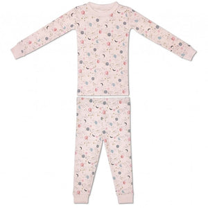 Apple Park - Organic Cotton Pajama - Moon Star Pink
