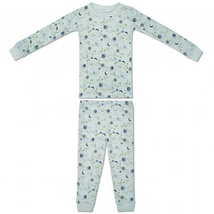 Apple Park - Organic Cotton Pajama - Moon Star Mint