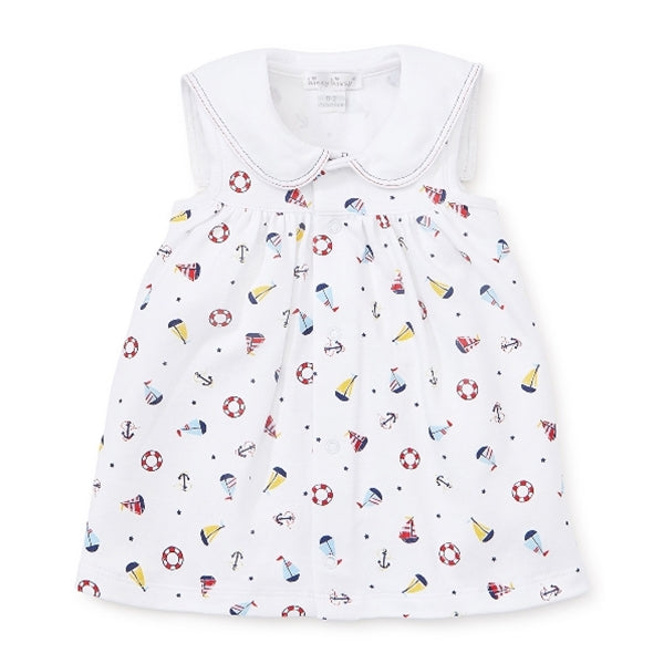 Kissy Kissy - Summer Sails - Print Dress Sett W/ Collar