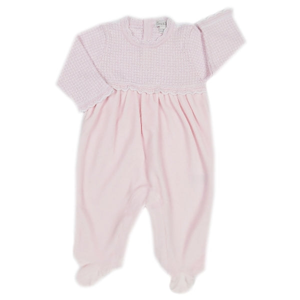 Kissy Kissy - Winter Solstice  Velour Footie - Pink