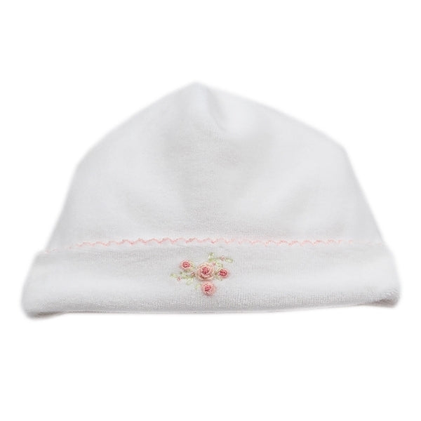 Kissy Kissy - Rose Bows  Velour Hat - Wh./Pink