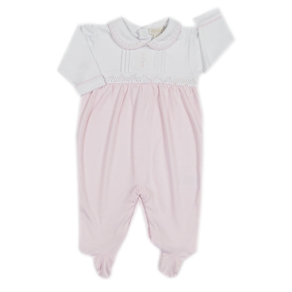 Kissy Kissy - Timeless  Footie W/Collar - Pink