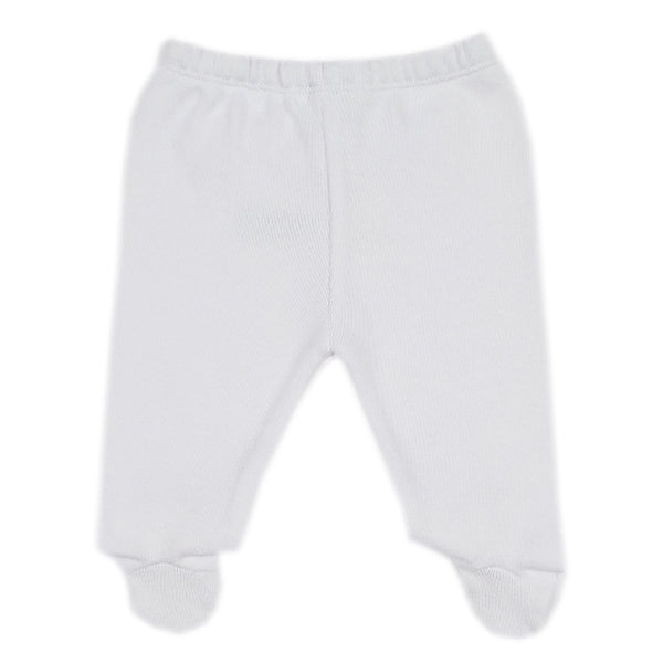 Kissy Kissy - Patchwork  Knit Footed Pant - White