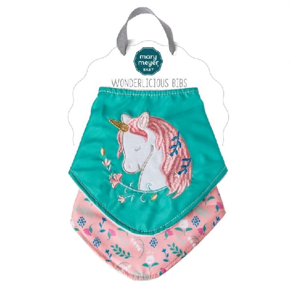 Mary Meyer - Wonderlicious Bib Set - Twilight Baby Unicorn